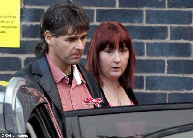 Coral and Paul Jones, both dressed in pink, leave court yesterday morning after a hearing in which they heard Bridger was 'possibly responsible' for their daughter's death