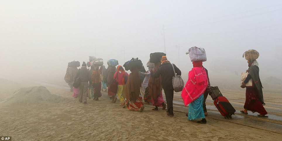 Seasons of mist: The event happens once every 12 years and people travel many miles to take part