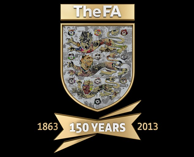 Anniversary: The FA's mosaic badge to mark 150 years