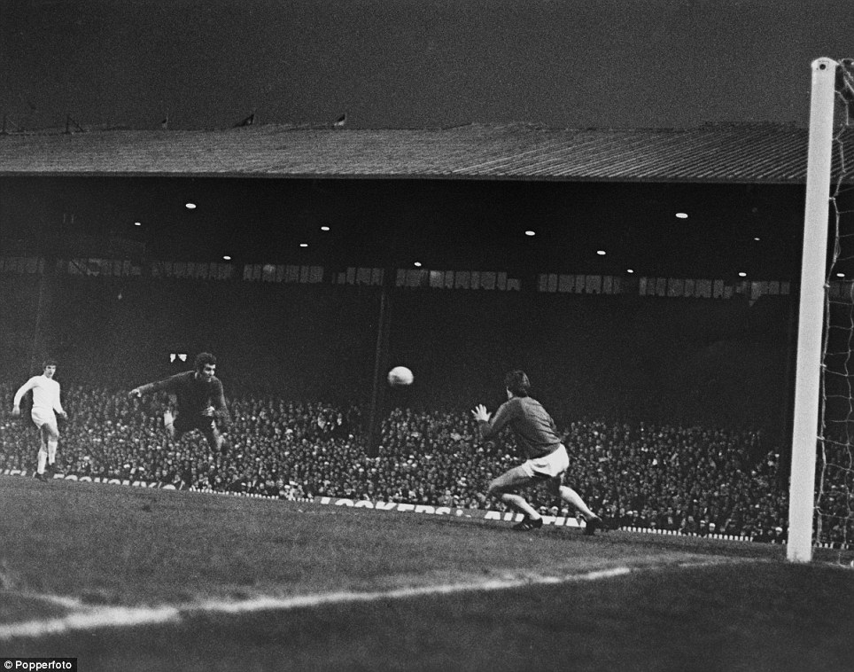 Not only is this a fantastic picture in its own right, with Chelsea's Peter Osgood scoring with a diving header, but I also like Old Trafford in the background, a very different stadium to the one we know in 2013