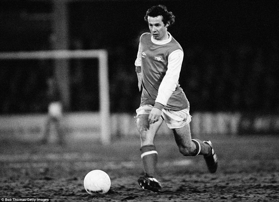 I can pretty much guarantee one thing - this is the only time in our weekly feature that you will ever see a picture from a fourth replay of an FA Cup tie - here's Arsenal great Liam Brady at Filbert Street