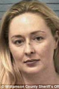 Criminal record: Mindy McCready has been arrested multiple times- for a probation violation in 2005 (left), for allegedly assaulting her mother in 2007 (center) and for a probation violation shortly after that (right)