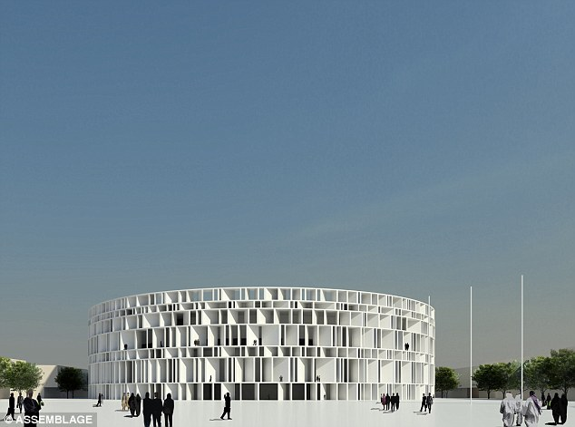 Cutting edge design: London-based Assemblage architects have been declared the winners of an international design competition for this design of a new $1bn parliament building for the Iraqi government
