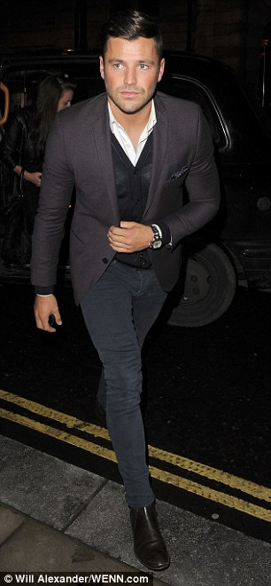 Boyfriend? Mark Wright was spotted out on Monday evening, the night after Michelle left his house after staying the night