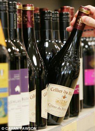 Alcohol: Aldi's new Super Premium Wine Range helped to draw in customers