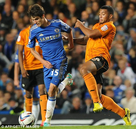 Learning curve: Chelsea's Lucas Piazon (left) is on his way to Malaga for a loan spell