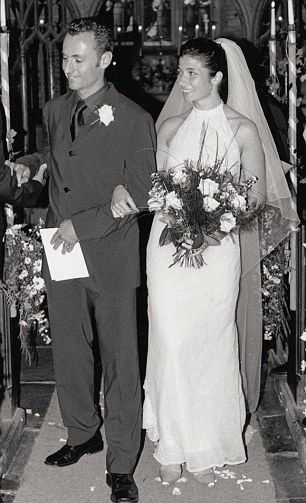Mimi and her husband Paul on  their wedding day 12 years  ago