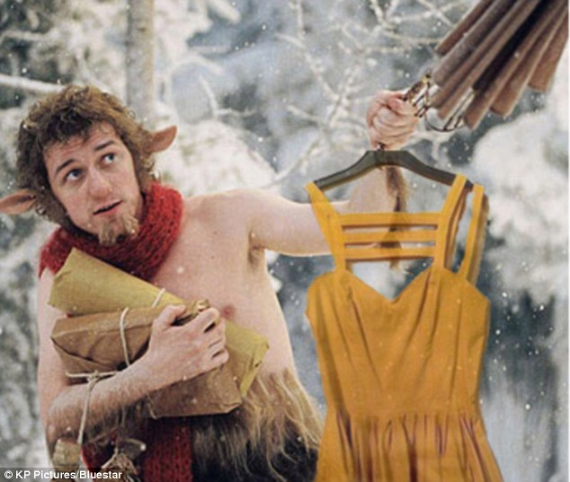 A dress for all occasions: The ebay user also helpfully posted a selection of pics of Mr Tumnus showing the dress off in a variety of locations
