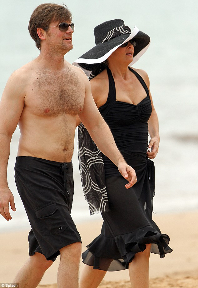 Onscreen couple: Monica and co-star Peter Krause appeared to be enjoying a couple's holiday for the series