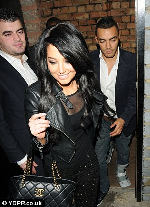 Tulisa and male friend at Rose Club and getting frisky in the back of a cab
