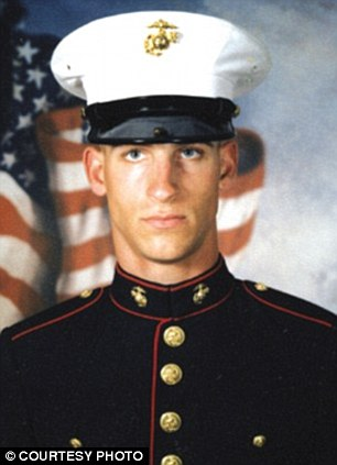 In trouble: Staff Sgt. Edward W. Deptola was among the four Marines captured urinating on the bodies of dead insurgents