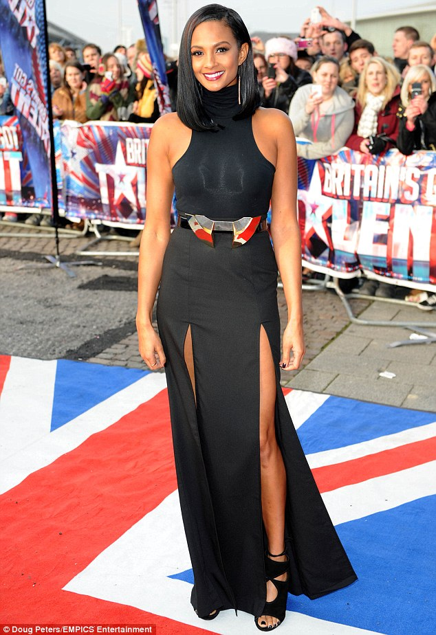 A daring choice: The BGT judge left little to the imagination with her sexy ensemble