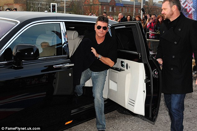 Travelling in style: Simon rocked up in a flash car