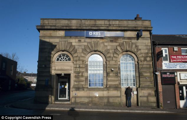 Victoria Mowbray, who works at The Royal Bank of Scotland (RBS) branch in Shaw, pictured, has been praised for going the extra mile to help Mr Butler
