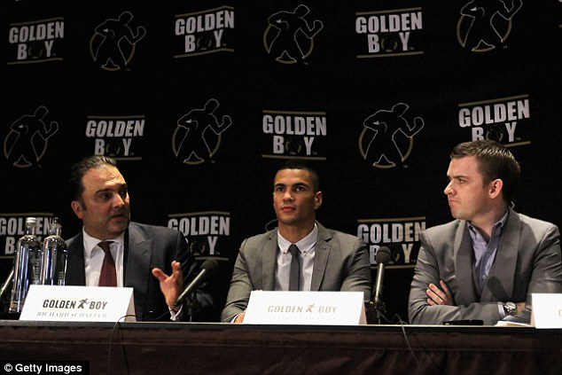 Star: Ogogo turned professional with Golden Boy at a press conference at London's Mayfair Hotel