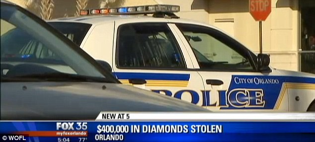 Full investigation: Orlando police are looking into whether the diamond dealer was followed by thieves who knew what they were stealing