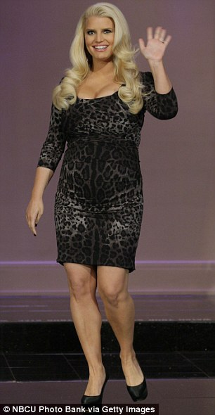 Eye for design: Jessica Simpson has expanded her maternity line due to high demand (pictured during a recent episode of The Tonight Show)