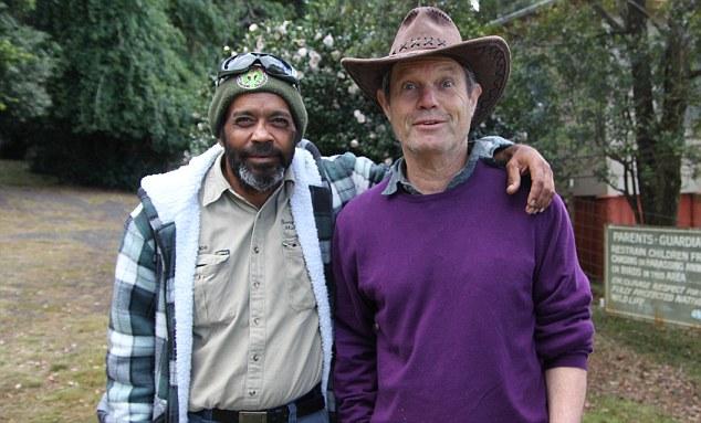 Chris with a Bunya Mountain ranger