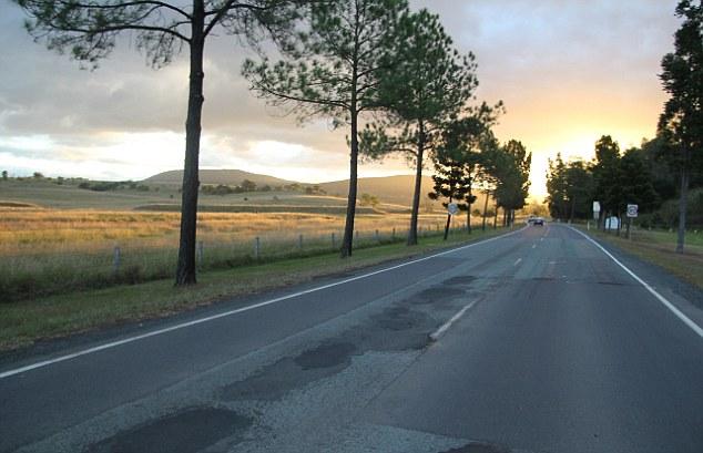 The road towards Bunya Mountains