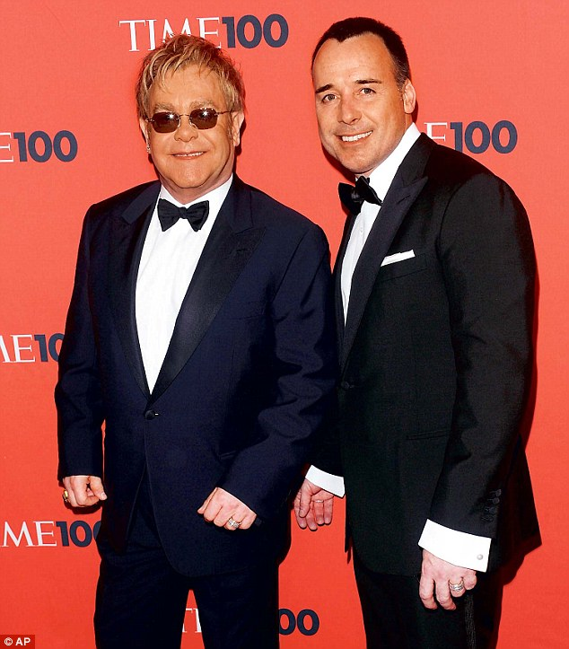 Mum and dad: David Furnish has been named as the newborn Elijah's mother on his birth certificate, while Elton John is listed as his father