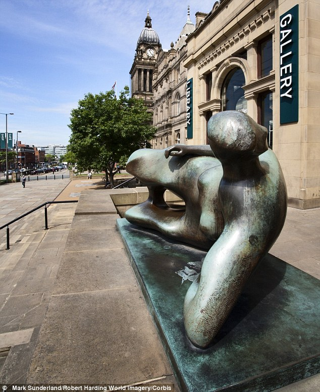 Iconic: The Reclining Woman has become a well-known local fixture in Leeds