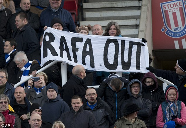 Rafa out: It was thought Benitez's appointment until the end of the season would lead to Guardiola signing with Chelsea in the summer