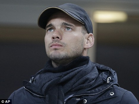 Barely played: Wesley Sneijder has been frozen out at Inter Milan