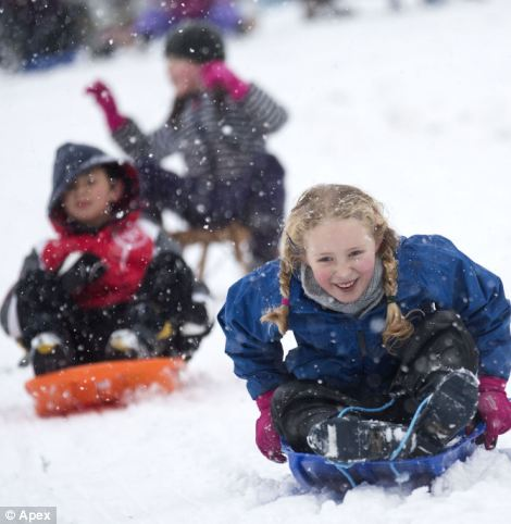Fun, fun, fun: There has been no shortage of smiles at St Andrew's Park in Bristol