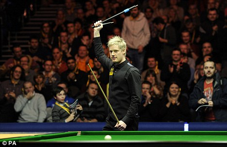 In the final: Neil Robertson celebrates victory