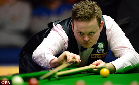 Out of touch: Shaun Murphy in action