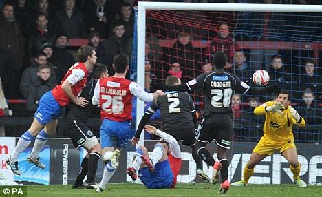 Quick reactions: Aldershot's Ross Worner saves