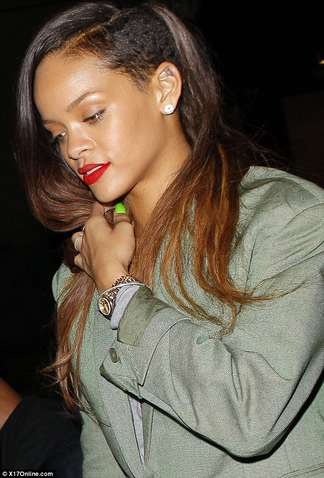 Minted: The You Da One star continued her green streak of dressing, wearing a chic mint-coloured blazer