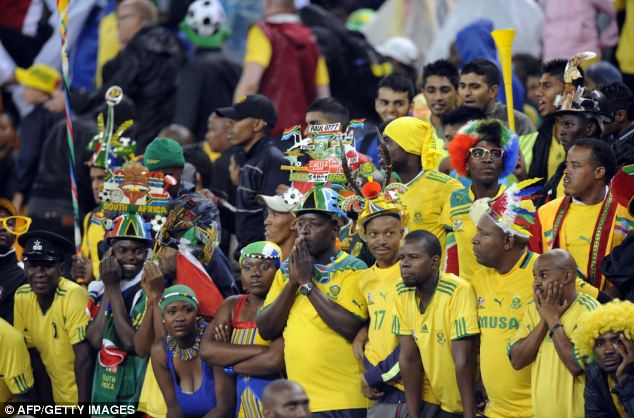 Disappointing: Bafana Bafana fans were not expecting a 0-0 draw in their opening game on home soil