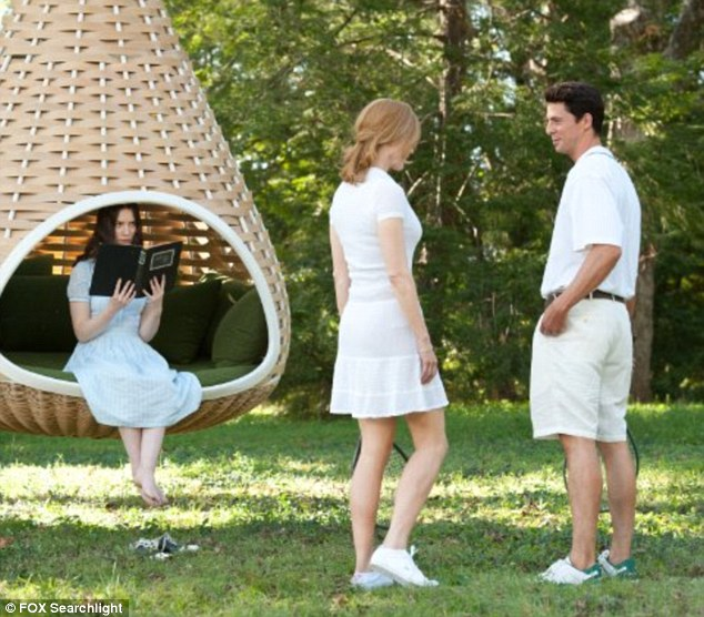 Family fun: But Mia Wasikowska's character India soon becomes suspicious of her charming uncle