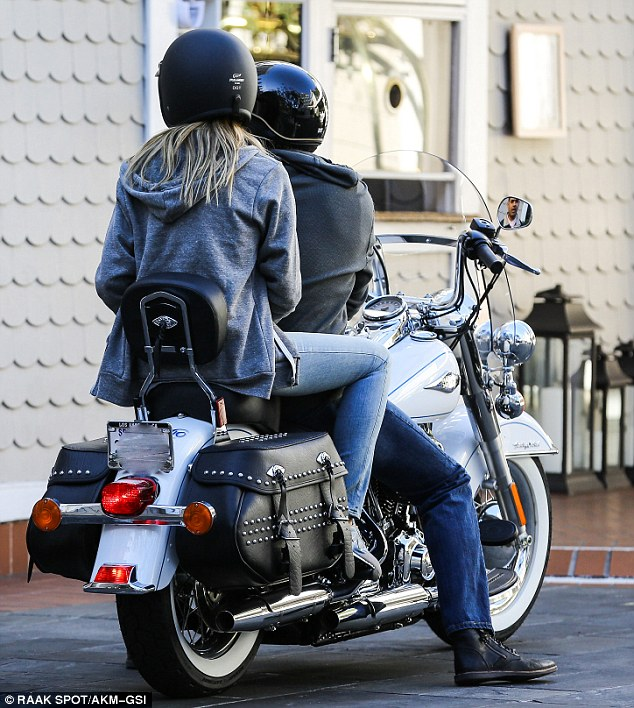 Revved up: The couple appeared to be having a ball spending some alone time together