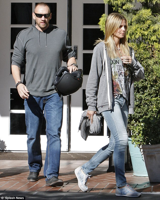 Going strong: Heidi and Martin have been dating for several months now