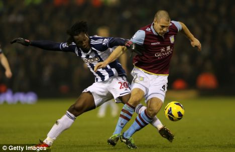 Welcome return: Centre-back Ron Vlaar was excellent in his first game back from injury