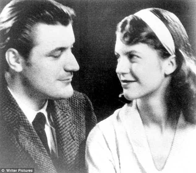 The book, Mad Girl's Love Song, claims that it was writer and academic Richard Sassoon's rejection that threw Sylvia, pictured right, into the arms of Ted Hughes, pictured left