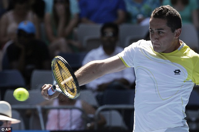 In control: Almagro was ahead in the match when it was stopped