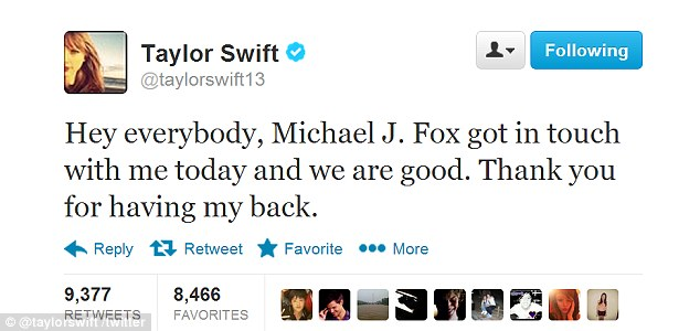 The fantastic Mr Fox: Taylor revealed the actor got in touch to apologise after he made the fruity remarks