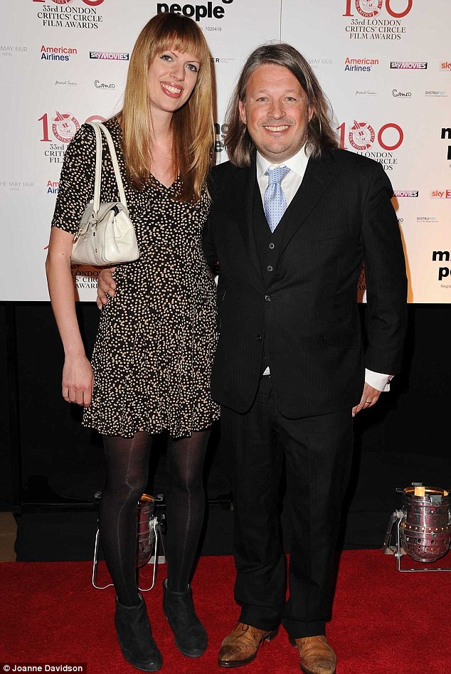 Game for a laugh: Comedian Richard Herring put in an appearance on the red carpet, looking smart