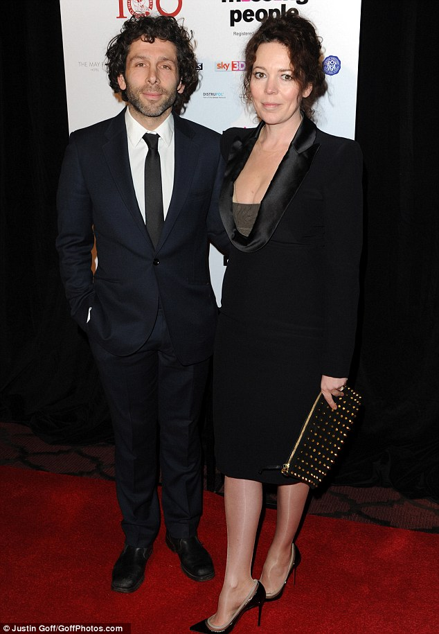 Red carpet ready: Star Olivia Coleman wore a stylish black dress, adding a pair of towering stilettos and a studded clutch