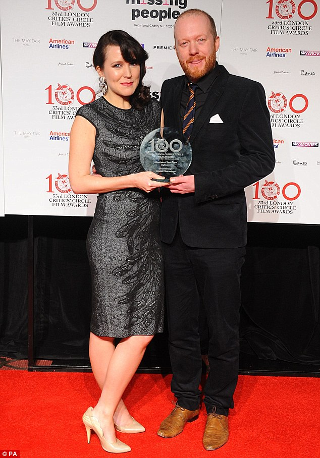Rising stars: Alice Lowe and Steve Oram picked up the award for Breakthrough British Film-maker for Sightseers