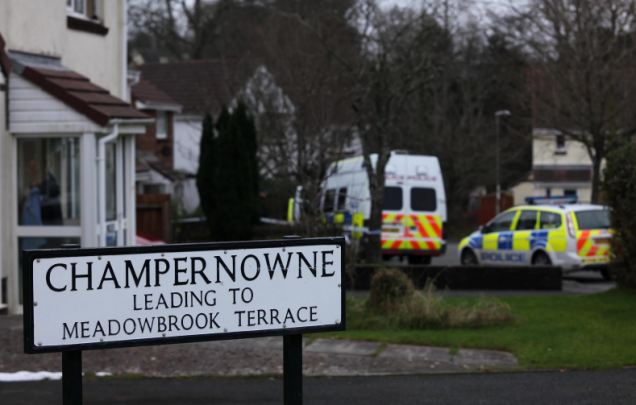 Investigation: Police carried out door-to-door enquiries after the toddler's body was discovered