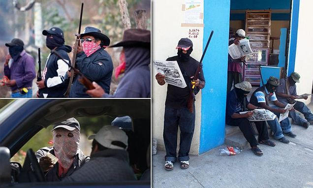 Mexican Masked Vigilantes Masked Mexican Vigilantes Take