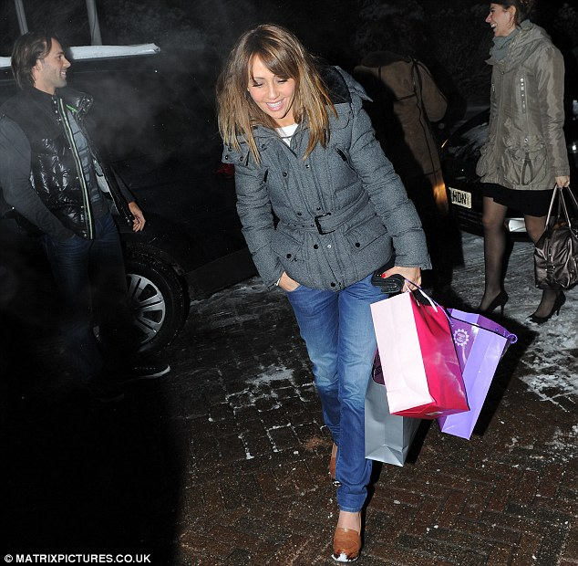 Gifts: Coronation Street star Samia had a number of gift bags with her which were perhaps items from well wishers