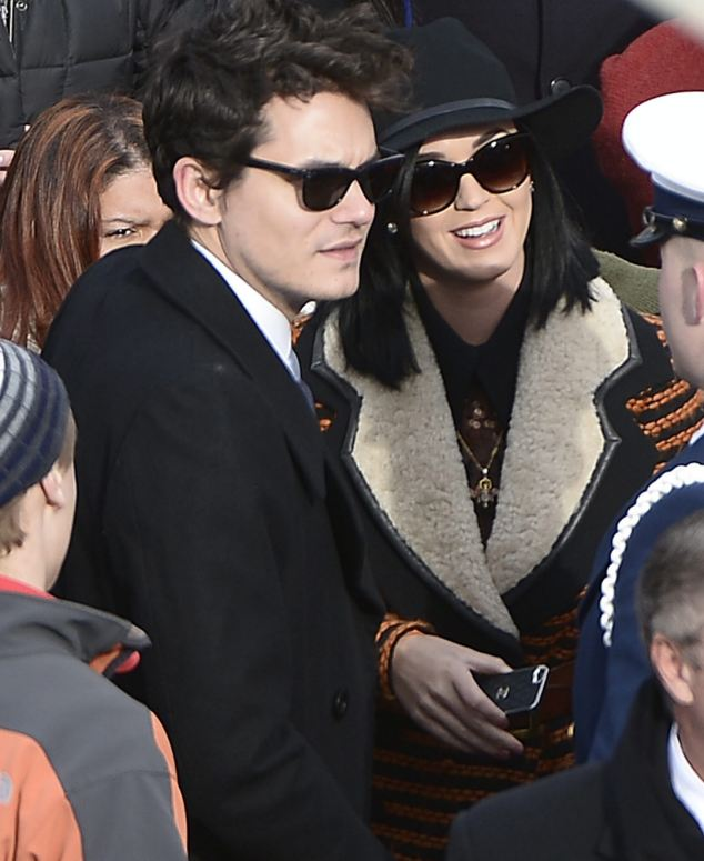 A-list event: John Mayer and Katy Perry were also in the crowd