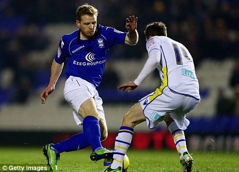 Rejected: Birmingham turned down Nottingham Forest's bid for Chris Burke
