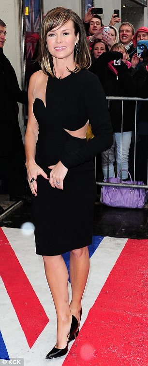 Not happy: Amanda Holden was left fuming with Simon Cowell after he made a quip about her failed marriage to comedian Les Dennis at the Britain's Got Talent auditions on Sunday