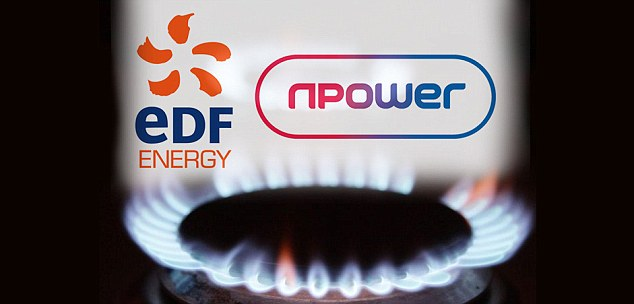 Naughty: Energy giants npower and EDF Energy came in the last two places in a customer satisfaction survey by Which?. The table was dominated by smaller suppliers.